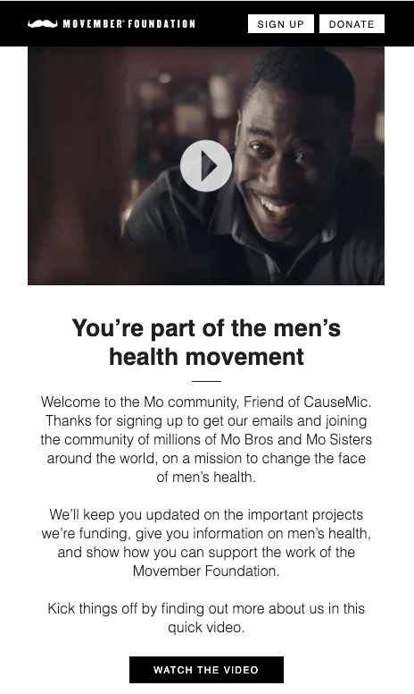 movember foundation email template